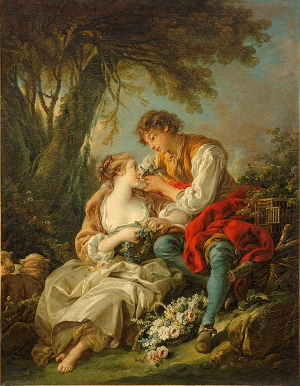 Francois Boucher (1703-1770): The Bird Cage (1763)