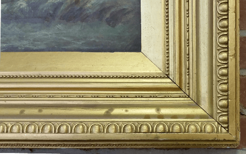 Neoclassical frame - corner close-up