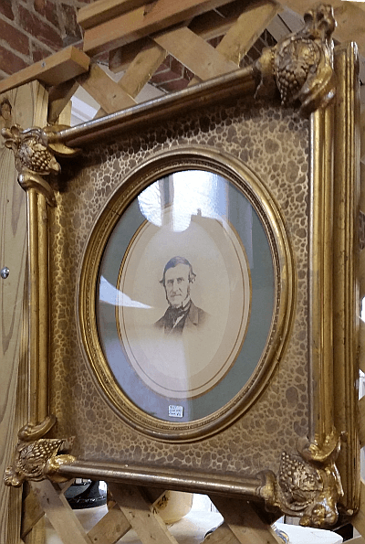 Victorian frame portrait - showing original finish luster and reflections.