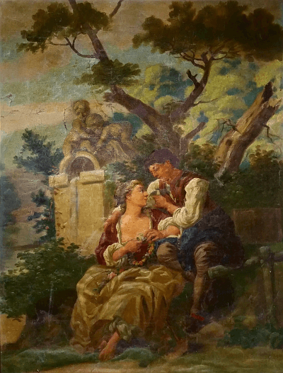 Rococo reproduction painting by unknown artist.